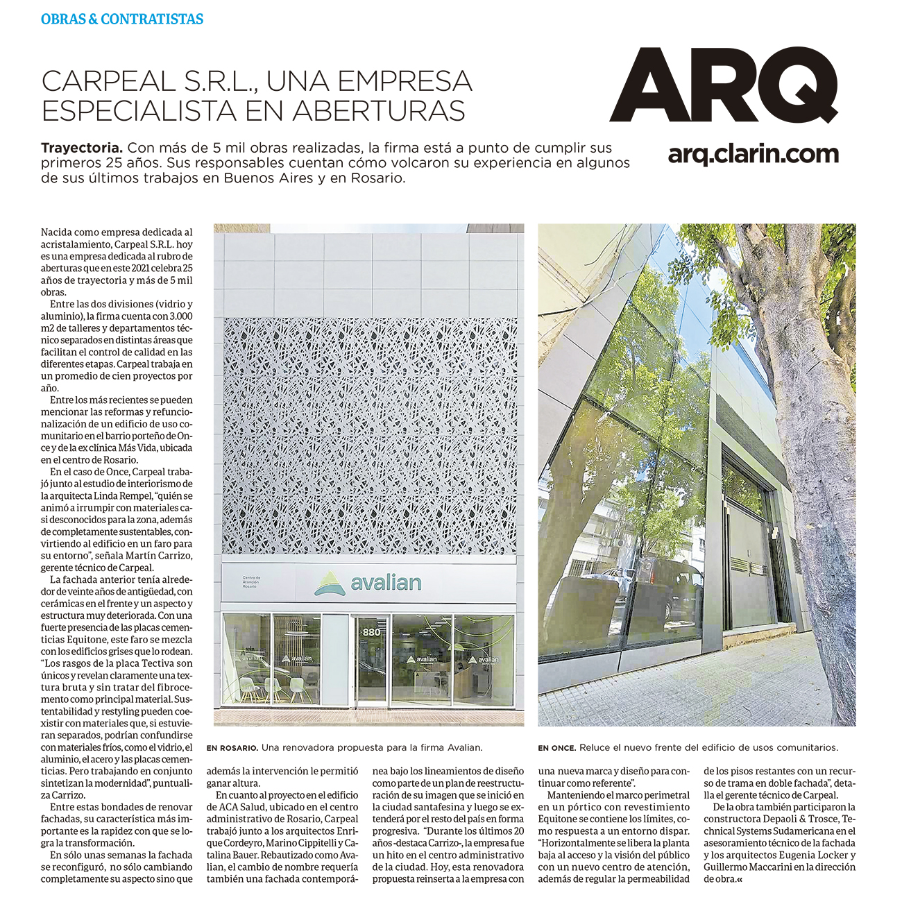 Nota Clarín ARQ - Febrero 2021