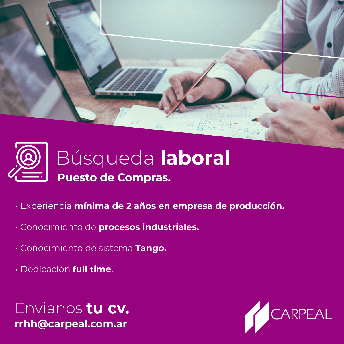 CARPEAL - Búsqueda Laboral - Compras.